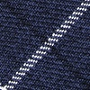 Navy Blue Cotton Harley Skinny Tie