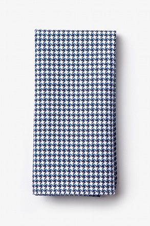 _Sadler Navy Blue Pocket Square_