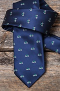 Bicycles Navy Blue Tie Photo (2)