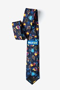 Colorful Fish Navy Blue Tie For Boys Photo (1)