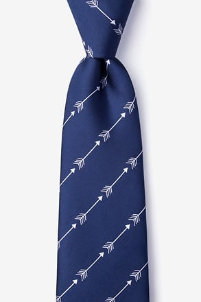 Flying Arrows Navy Blue Extra Long Tie