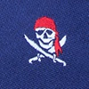 Navy Blue Microfiber Pirate Skull and Swords Extra Long Tie