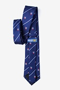 Pirate Skull and Swords Navy Blue Tie Photo (1)