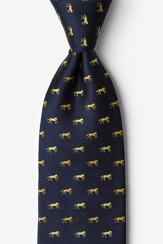 Hold Your Horses Navy Blue Tie Photo (0)