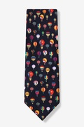 Hot Air Balloons Navy Blue Tie Photo (1)