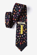 Hot Air Balloons Navy Blue Tie Photo (2)