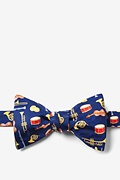 Musical Instruments Navy Blue Self-Tie Bow Tie Photo (0)
