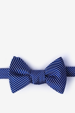 Rene Navy Blue Self-Tie Bow Tie