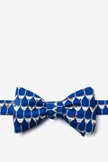 Stack of Martinis Navy Blue Self-Tie Bow Tie Photo (0)