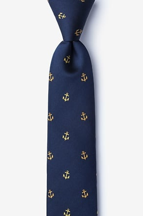What's the Holdup? Navy Blue Skinny Tie