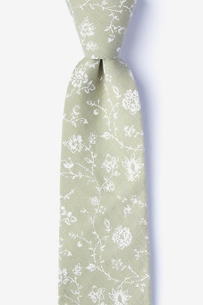 Bexley Olive Extra Long Tie