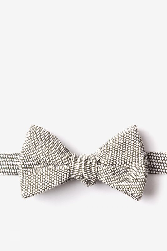 Westminster Olive Self-Tie Bow Tie Photo (0)
