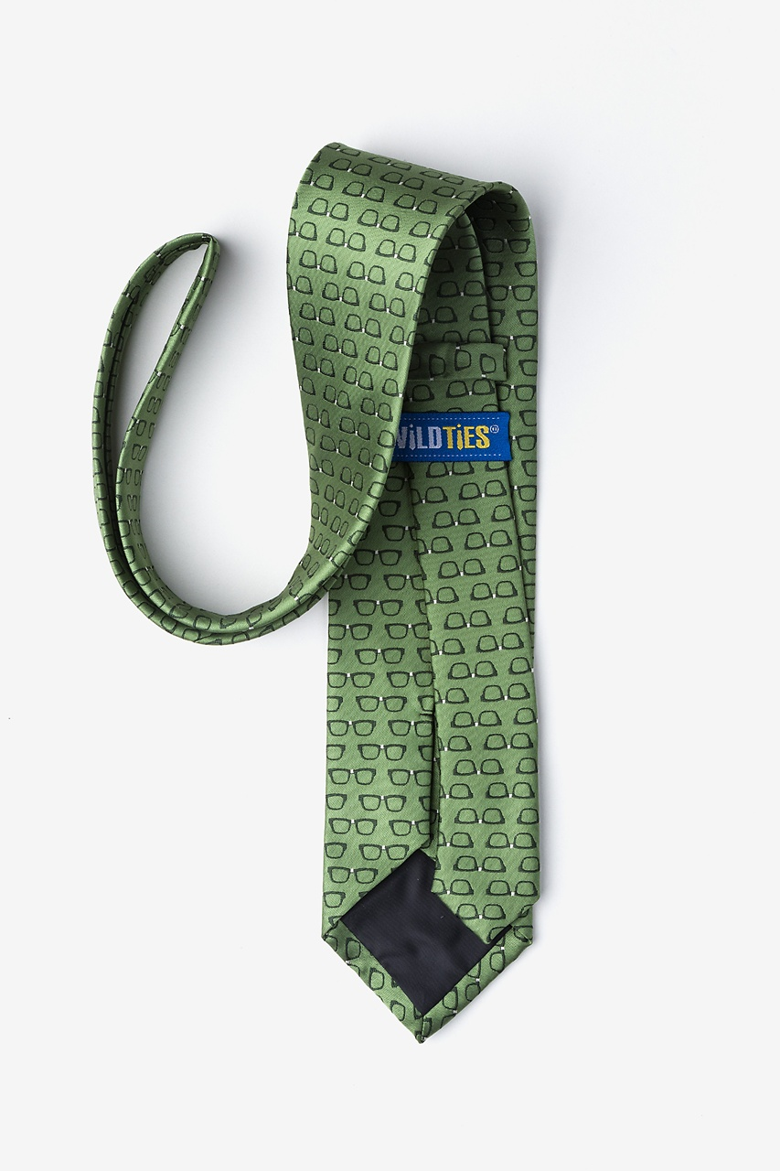 Four Eyes Olive Tie Photo (1)