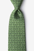 Four Eyes Olive Tie Photo (0)
