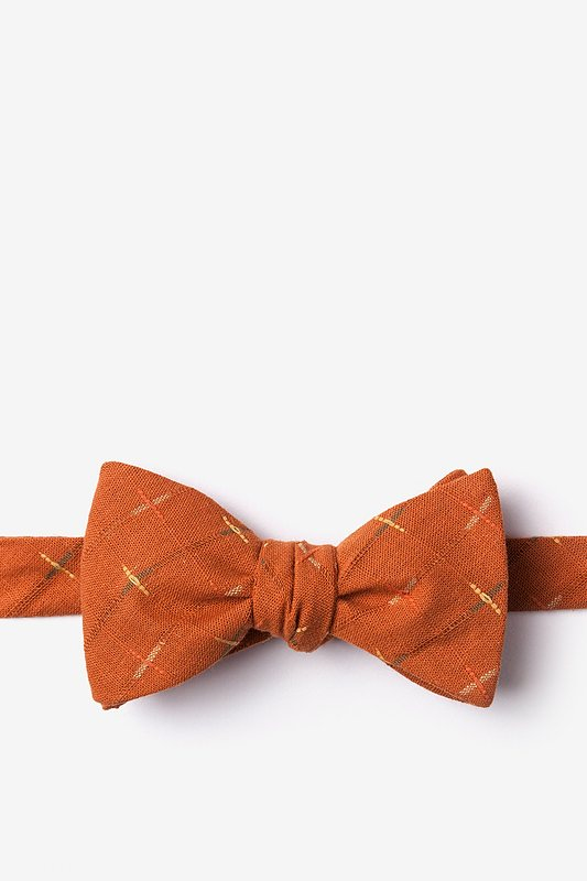 La Mesa Orange Self-Tie Bow Tie
