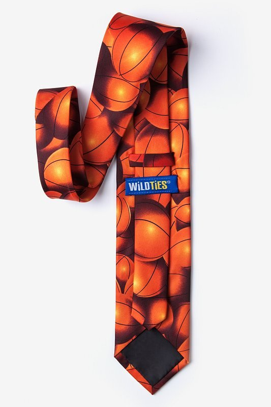 Basketball Fever Orange Tie Photo (1)