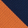 Orange Microfiber Orange & Navy Stripe Tie