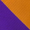 Orange Microfiber Orange & Purple Stripe Pre-Tied Bow Tie