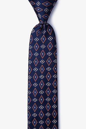 Willow Orange Skinny Tie