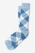 Argyle Assassin Pale Blue Sock Photo (0)