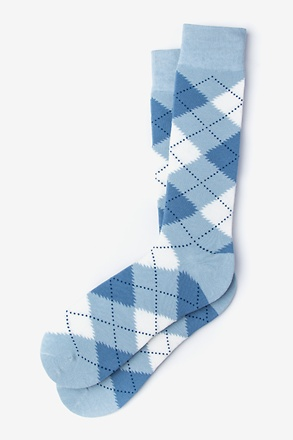 Argyle Assassin Pale Blue Sock