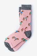 Derby Horse Pink Women's Sock Photo (0)