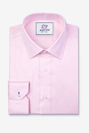 Oliver Herringbone Pink Classic Fit Dress Shirt