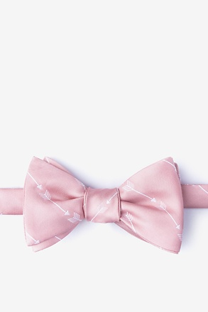 Flying Arrows Pink Self-Tie Bow Tie