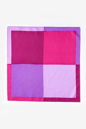 Cary Pink Pocket Square