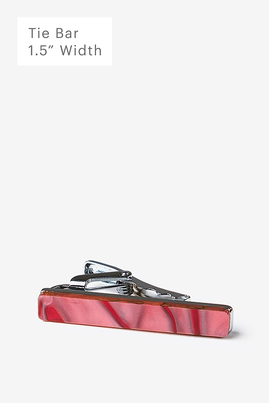 Recycled Glass Pink Tie Bar Photo (0)