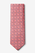 Bit by Bit Pink Extra Long Tie Photo (1)