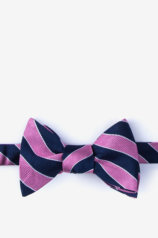Fane Pink Self-Tie Bow Tie Photo (0)