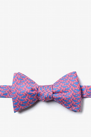 Micro Sharks Pink Self-Tie Bow Tie