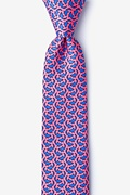 Micro Sharks Pink Skinny Tie Photo (0)
