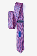 Micro Sharks Pink Skinny Tie Photo (1)
