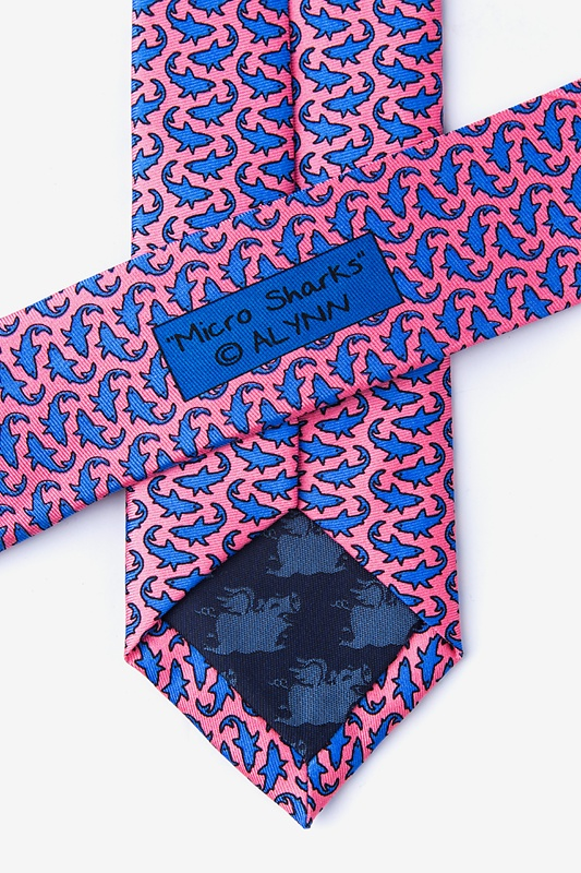 Micro Sharks Pink Skinny Tie Photo (2)