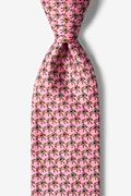 Pink Silk One Horse Race Tie