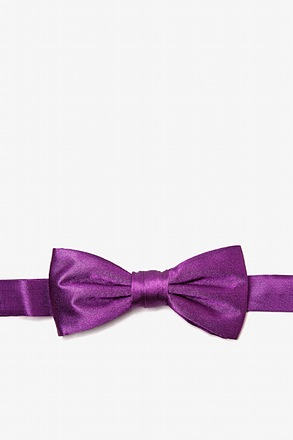 Purple Plum Bow Tie For Boys