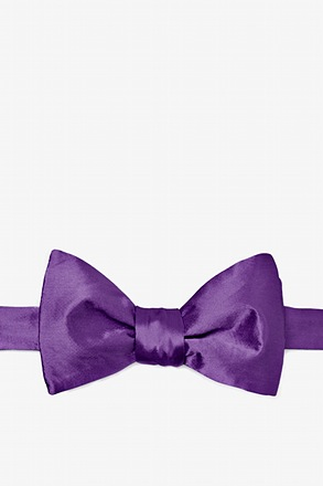 Purple Plum Self-Tie Bow Tie