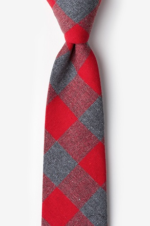 Kent Red Extra Long Tie