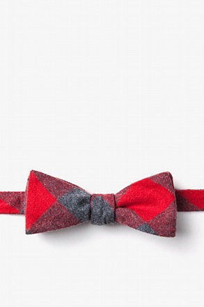 Kent Red Skinny Bow Tie