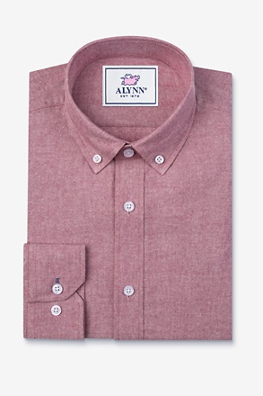 Lucas Red Slim Fit Casual Shirt