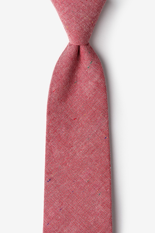 Teague Red Extra Long Tie Photo (0)