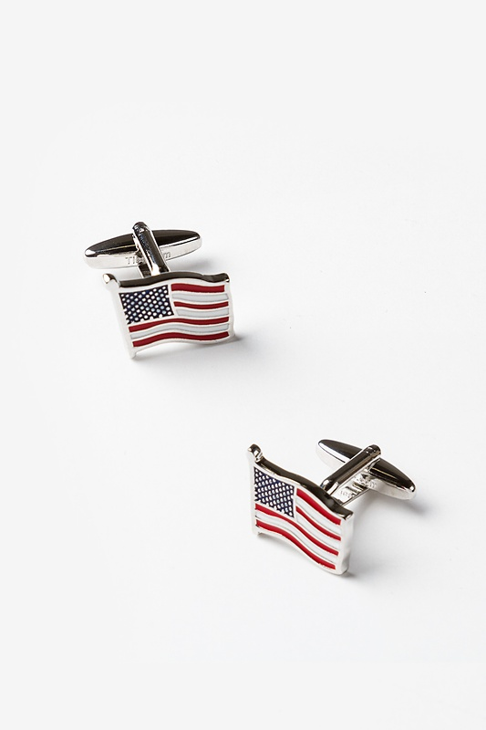 American Flag Red Cufflinks Photo (0)