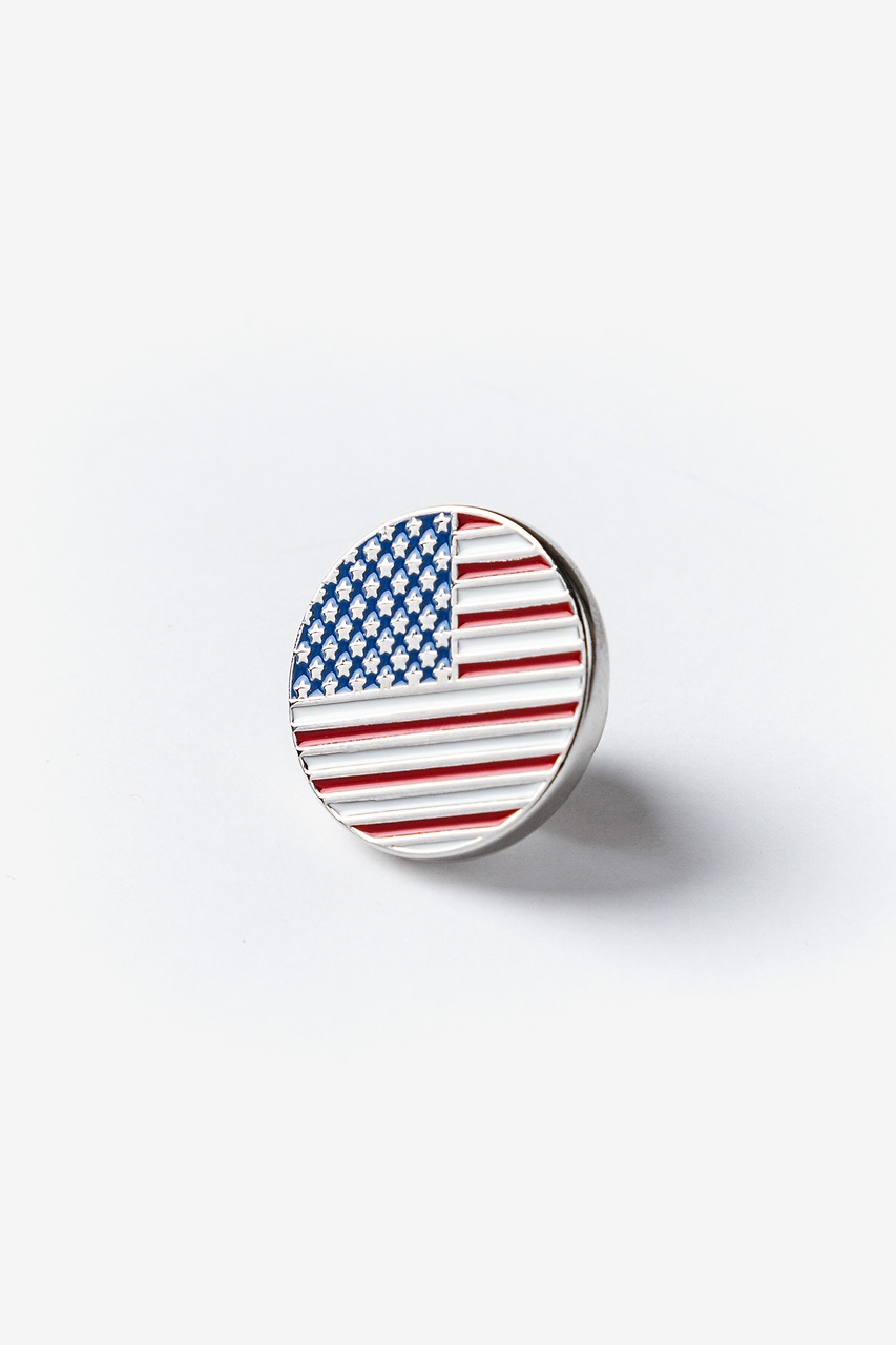 American Flag Red Lapel Pin Photo (0)