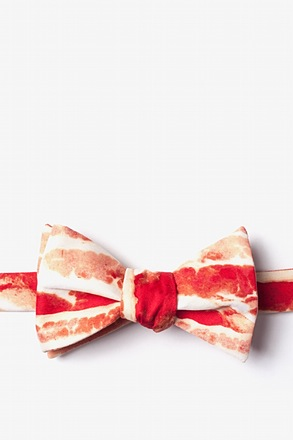 Bacon Forever Red Self-Tie Bow Tie