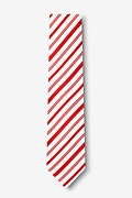 Candy Cane Red Skinny Tie Photo (1)