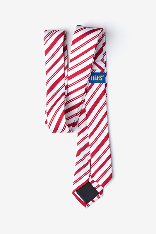Candy Cane Red Skinny Tie Photo (2)