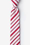 Candy Cane Red Skinny Tie Photo (0)