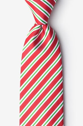 _Christmas Stripe Red Tie_